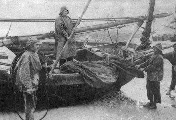 Un Flobart de Wissant, vers 1900, de retour de pêche.